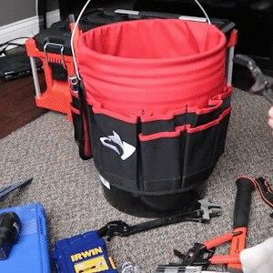 Bucket Organizer Pouch Storage Bag 42 Grids Pocket Gardening Tool Bag Garden Tool Pouch Hand Tool Bag Planting Props Basket